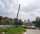 Thi công cầu vượt nhẹ nút giao thông đường Nguyễn Chí Thanh – Đường Láng