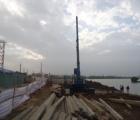 Xử lý nền móng Sàn giảm tải Cầu Diêm Điền – Thái Bình bằng cọc BTCT 350x350mm